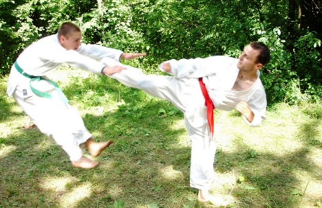 Grigore is teaching Taekwon-Do