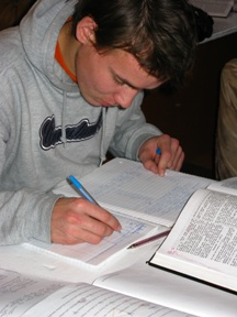 Nicolai grew up in orphanage, now is studying to be Bible teacher