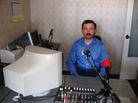 Alexandru Sanduleac at the Radio Studio