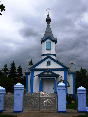 Village Russian Orthodox church in the village of Stolniceni 